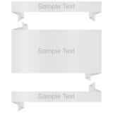Weiße Fahnen eingestellt, Origami Lizenzfreie Stockbilder