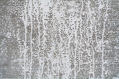 Weiße Farbe auf grauem Segeltuch Stockfotografie
