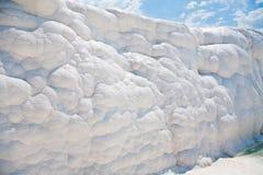 Weiße Felsen und Travertine von Pamukkale Lizenzfreies Stockbild