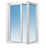 Weiße Fenster Stockfotografie