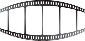 Weiße Filmausbuchtung Stockbild