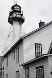 Weiße Fisch-Punkt-helles Haus Stockfotos