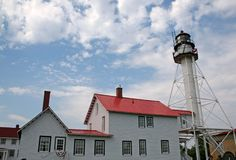 Weiße Fisch-Punkt-helles Haus Stockbild