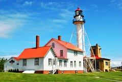 Weiße Fisch-Punkt-Leuchtturm Stockfotografie