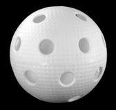 Weiße floorball Kugel Lizenzfreie Stockbilder