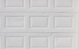 Weiße Garagetüren Stockbild