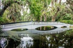 Weiße gehende Brücke Stockfotografie
