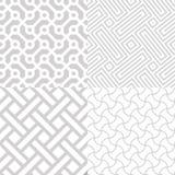 Weiße geometrische Beschaffenheiten eingestellt Stockfotografie
