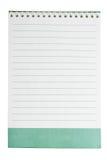 Weiße gezeichnete Notizblockseite Lizenzfreie Stockbilder