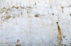 Weiße Gipswand schmutzig Lizenzfreies Stockfoto