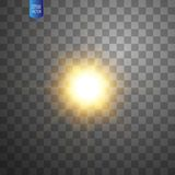 Weiße glühende helle Explosionsexplosion auf transparentem Hintergrund Lichteffektdekoration der Vektorillustration mit Strahl vektor abbildung