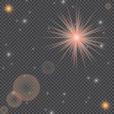 Weiße glühende helle Explosionsexplosion mit transparentem Vektorillustration für kühle Effektdekoration mit Strahl funkelt Helle Lizenzfreies Stockfoto