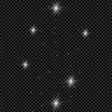 Weiße glühende helle Explosionsexplosion mit transparentem Vektorillustration für kühle Effektdekoration mit Strahl funkelt Helle Stockfotos