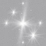 Weiße glühende helle Explosionsexplosion mit transparentem Vektorillustration für kühle Effektdekoration mit Strahl funkelt Helle Stockbild