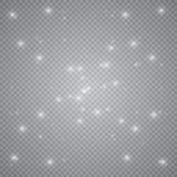 Weiße glühende helle Explosionsexplosion mit transparentem Vektorillustration für kühle Effektdekoration mit Strahl funkelt Helle lizenzfreie abbildung