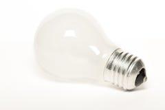 Weiße Glühlampe Stockfoto