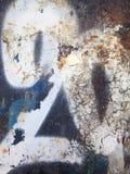 Weiße Graffiti der Nr. zwanzig Lizenzfreie Stockfotos