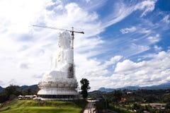 Weiße Guanyin-Statue Stockbild