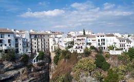 Weiße Häuser in Ronda Lizenzfreies Stockfoto