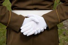 Weiße Handschuhe Stockbild