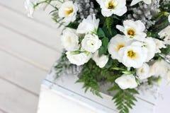Weiße Hochzeitsblumen Lizenzfreie Stockbilder