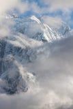 Weiße hohe schneebedeckte Berge von Nepal, Annapurna-Region Lizenzfreie Stockfotos