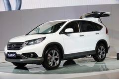 Weiße Honda CRV Lizenzfreies Stockfoto