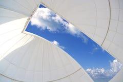 Weiße Innenhaube des astronomischen Beobachtungsgremiums Stockbild