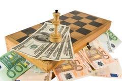 Weiße Königin und Geld Lizenzfreies Stockfoto