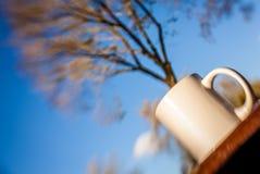 Weiße Kaffeetasse Lizenzfreies Stockbild