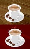 Weiße Kaffeetasse lizenzfreie abbildung