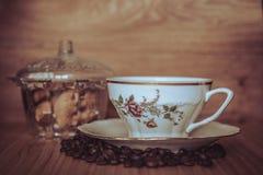 Weiße Kaffeetasse Stockfoto