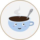Weiße Kaffeetasse Stockfotografie