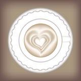 Weiße Kaffeetasse Auch im corel abgehobenen Betrag stock abbildung