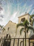 Weiße Kapelle niedriger Angel View Lizenzfreie Stockbilder