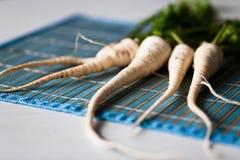 Weiße Karotten stockbild