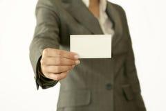 Weiße Karte Lizenzfreies Stockbild