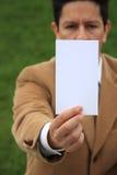 Weiße Karte stockfoto