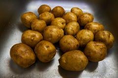 Weiße Kartoffeln in der Wanne 3 lizenzfreies stockbild