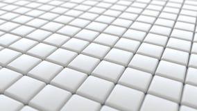 Weiße keramische Badezimmer-Fliesen, Hintergrund der Wiedergabe-3D Stockfotografie