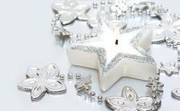 Weiße Kerze stockfoto