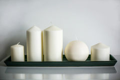 Weiße Kerzen Stockbild