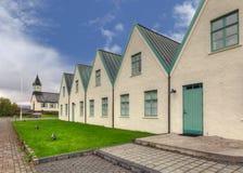 Weiße Kirche in Nationalpark Thingvellir Lizenzfreie Stockfotografie