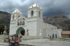 Weiße Kirche, Peru Lizenzfreies Stockfoto