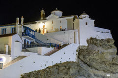 Weiße Kirche in Skopelos stockbild
