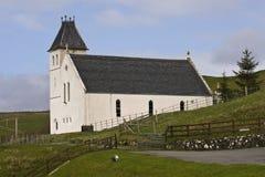 Weiße Kirche, Uig, Insel von Skye, Schottland. Lizenzfreie Stockbilder
