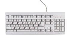 Weiße klassische Computertastatur lizenzfreie stockbilder