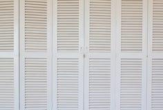 Weiße klassische Tür Stockbild