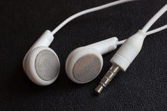 Weiße Kopfhörer Stockbild
