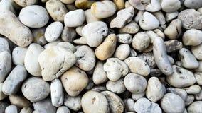 Weiße Kopfsteinsteine Stockfotografie